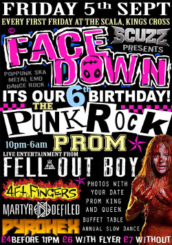 Face Down Punk Rock Prom Poster