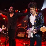 Mandatory Credit: Photo by Richard Isaac/REX/Shutterstock (5494644r) Ronnie Wood, Bernard Fowler. Bernard Fowler has performed and recorded as vocalist with the Rolling Stones. Tonights concert was to to raise awareness of Project 0; a marine conservation charitable fund Wave Makers: Fundraising concert held at Scala in aid of Project 0, London, Britain - 16 Dec 2015