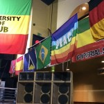 UOD flag, speakers and flags