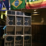 ISA speakers and peace flag